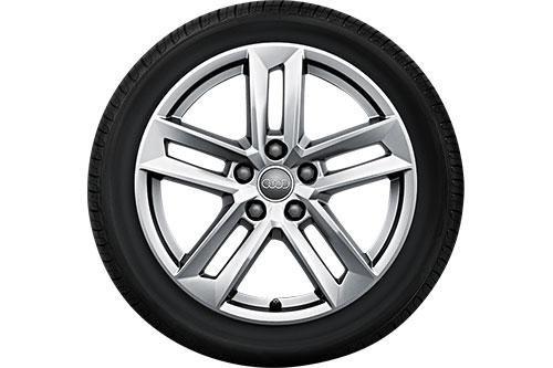 Audi WKR 5-Parallelspeichen, 7x17 5/112/42 Alu-Basisrad 225/50 R17 , rechts - 8W00735378Z8