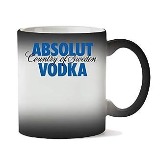 Wicked Design Absolut Vodka Logo Mug Heat Color Changing