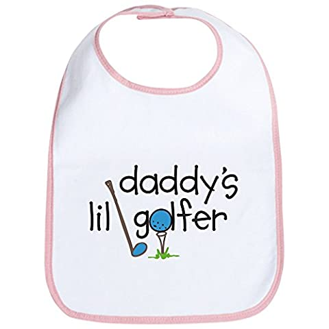 CafePress - Daddys Lil Golfer - Cute Cloth Baby Bib, Toddler Bib