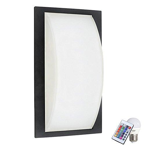 Nel set di illuminazione dimmerabile telecomando vetro lampada dimmer raso incl RGB LED sorgente luminosa