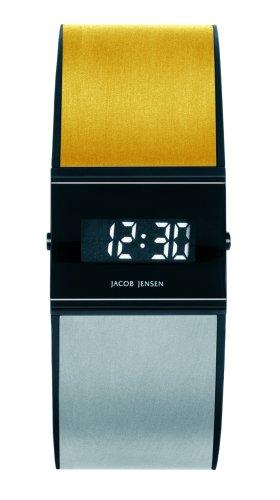 Jacob Jensen 32533 - Orologio da polso da uomo, cinturino in caucciù multicolore