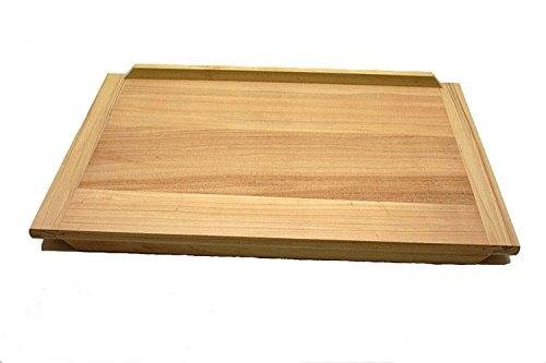 Gluecksshop Backbrett, Nudelbrett XXL aus Naturholz unbehandelt ca 60 x 40 cm
