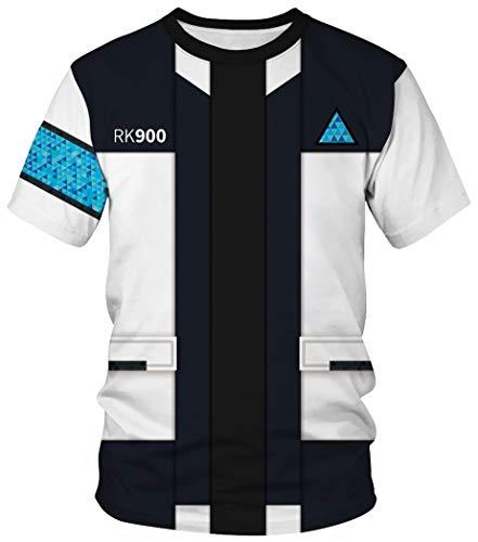 Cheerleader Herren T-shirt (Ocean Plus Unisex Rundhals Sportswear T-Shirt Kostüm mit Aufdruck Fasching Größen S-3XL Tops mit Kurzarm (S (Referenzhöhe: 155-160 cm), Uniform))