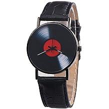 ZODOF Moda Hombre de Moda Relo Casual Unisex Banda de diseño Retro Reloj de Cuarzo de