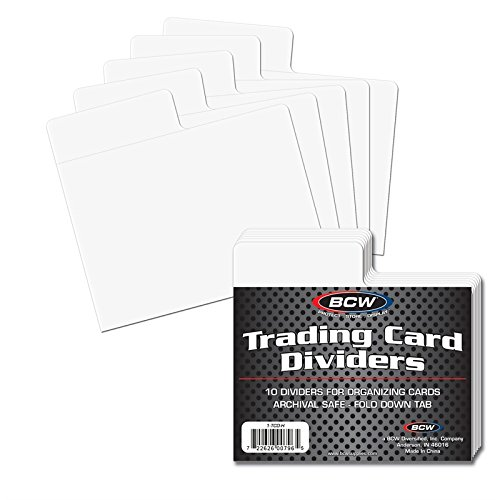 Trading Card Storage Box Dividers with Horizontal Tab x 50 pack