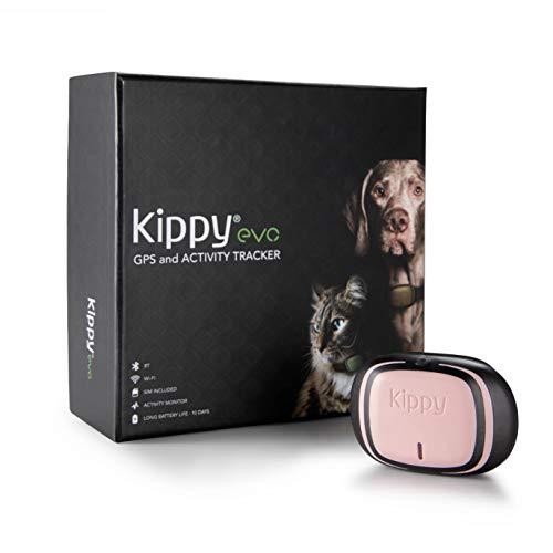 Kippy EVO, Das Neue GPS and Activity für Hunde und Katzen, 38 gr, Waterproof, Batterie 10 Tage, Pink Petal