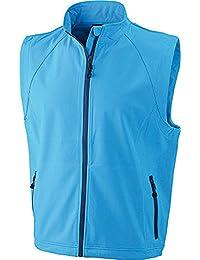 JN1022 Men's Softshell Vest Modische Softshellweste, Größe:XL;Farbe:Azur