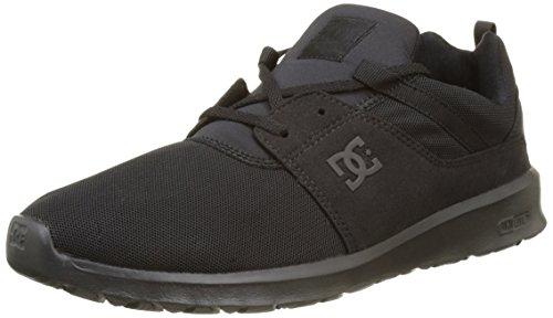 DC Shoes Heathrow, Herren Low-Top Sneakers, Schwarz (Black/Black/Black), 40.5 EU (Skateboard Dc Schuh Black)