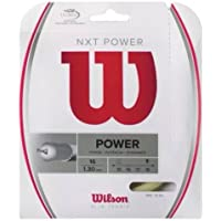 Wilson Nxt di Tennis String – 1,3 mm 16 g – Set 5 x 12,2 m, Naturale - 16 Tennis String Set
