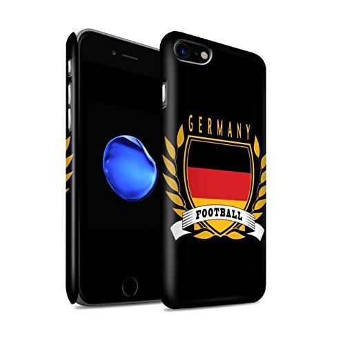 STUFF4 Matte Snap-On Hülle / Case für Apple iPhone 7 / Schottland/Scottish Muster / Fußball-Emblem Kollektion Deutschland/Deutsch