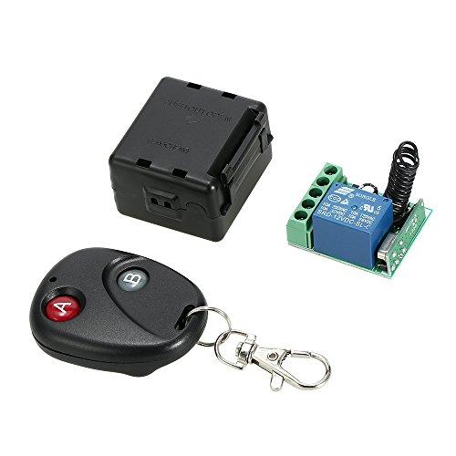 Festnight 433 MHz DC 12V 1CH Wireless Remote Switch Universal, Relaisempfänger Sender und RF Funkfernbedienungen 1527 Intelligentes Zuhause