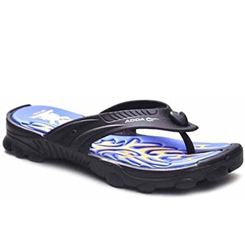adda men's blue synthetic house slippers and Thong Sandals 10uk  available at amazon for Rs.349