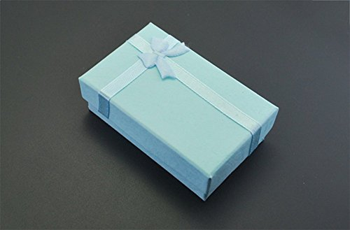 Dwayne C 10 Pcs Gift Boxes Sweet Bowknot Decoration Square Paper Storage Case for Gift Jewellery Presentation 5 * 8CM