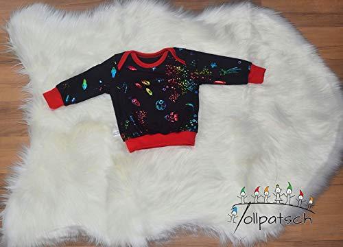 Schwarz Babyshirt (Shirt mit amerikanischen Ausschnitt