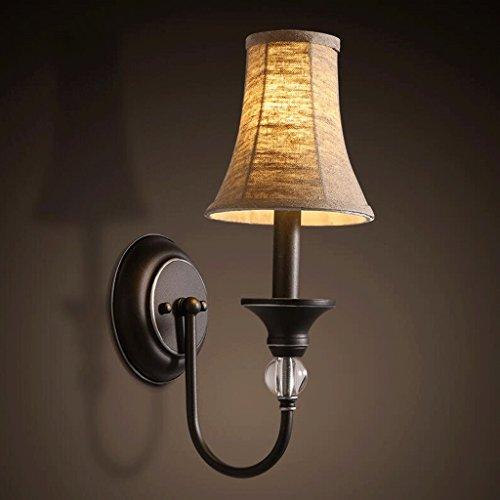 FHK,lampade da parete lampada da parete retro in tessuto personalizzato