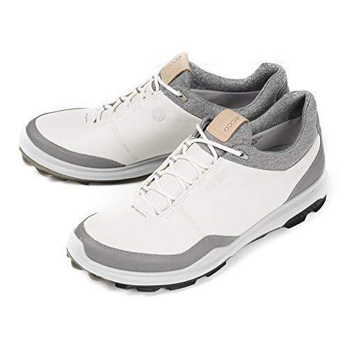 Ecco Golf BioM hybrid 3 Gore-Tex Stollenlose Herren Golfschuhe (weiß/schwarz) - UK 10.5 EU 45 - Hybrid Biom Golf Ecco
