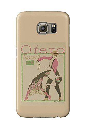 Otero Korsett Vintage Poster (artist: Deutsch) Germany c. 1910 (Galaxy S6 Cell Phone Case, Slim Barely There) (Korsett Cs)