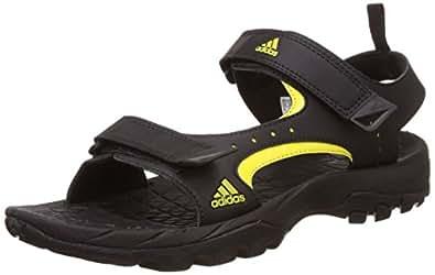 Adidas Men's Marengo Black and Yellow Athletic & Outdoor Sandals - 12 UK