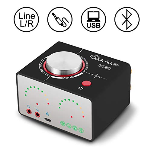 Douk Audio Tone HiFi Bluetooth 5.0 Endverstärker USB Mini Stereo Kopfhörer Verstärker,Sound Level, USB, AUX, RCA, Home Stereo Speaker System (Black) - Mini-stereo-audio-system