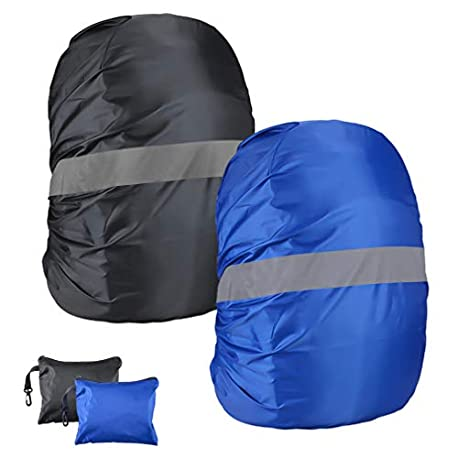 2pcs Cubierta impermeable para mochila Fundas de Mochila Protector De Lluvia Cubierta Impermeable para Mochila para Excursionism