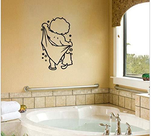 ZBYLL Wall Sticker Geschnitzte Wandaufklebern Badezimmer Wasserdicht Handbemalte Aufkleber