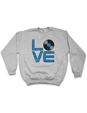 Vinyl Love Sweatshirt – disque Club Disco Retro Music Plattenspieler Phonograph Record Player Turntable DJ MC...