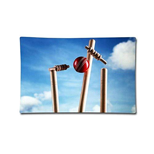 FGJGHKG Überwurf-Kissenbezüge, Cricket-Spiel, Baumwolle, dekorativer Kissenbezug für Sofa, Schlafzimmer, Auto, 50,8 x 76,2 cm