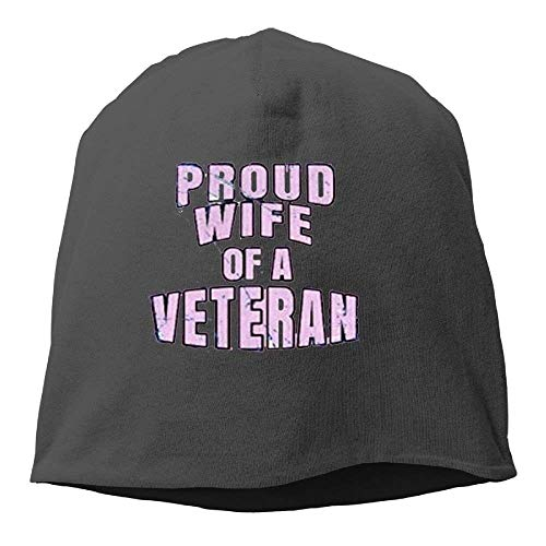 Proud Wife of A Veteran.PNG New Winter Hats Knitted Twist Cap Thick Beanie Hat Black