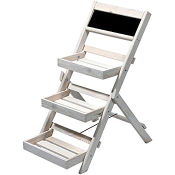 dobar blumentreppe pflanzleiter mit drei treppen f r drinnen und drau en wei. Black Bedroom Furniture Sets. Home Design Ideas