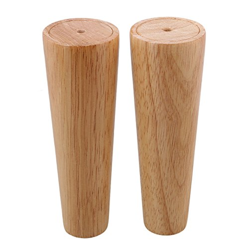 BQLZR 180x58x38mm Cone Wooden Material Sofa Chair Bed Cupboard Tea Table TV Cabinet Wooden Furniture Replacement Legs Pack of 4