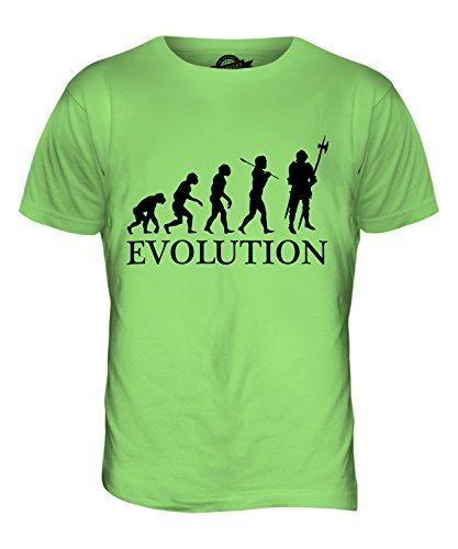 CandyMix Ritter Evolution Des Menschen Herren T Shirt Limettengrün