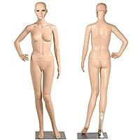 Popamazing Female Full Body Mannequin Adjustable Dummy Shop Window Display Detachable Structure