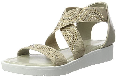 Marco Tozzi Cool Club Mädchen 48223 Offene Sandalen mit Keilabsatz, Braun (Pepper 324), 37 EU
