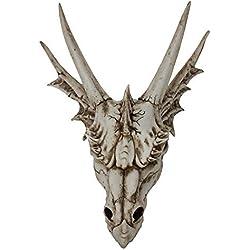Nemesis Now Last Dragon - Figura Decorativa (40 cm, 55 cm), diseño de Calavera, Color Marfil