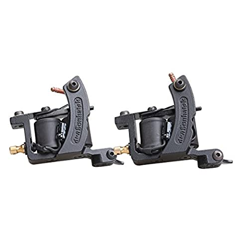 2 Pcs DragonHawk Tattoo Machine Steel Frame Tattoo Gun Liner and Shader WQ4446&WQ4446-1