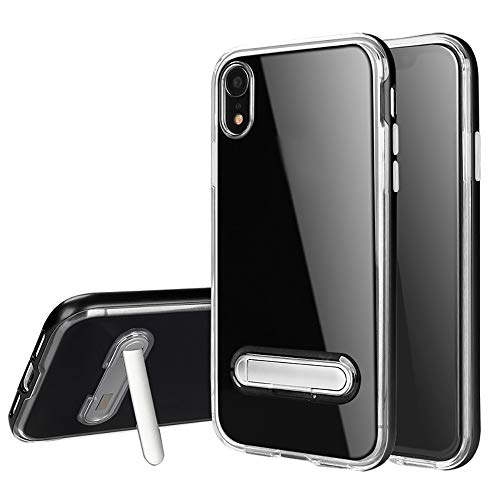 samLIKE Handyhülle für iPhone XR Transparent Silikon mit Magnetisch Halterung Stoßfest Schutzhülle Rückschale für iPhone XR 6.1 Zoll [Anti-Scratch] [Kratzfeste] (Schwarz) - Iphone-halterung Magnetisches