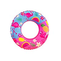 1PC Swimming Ring PVC Cartoon Flamingo Inflatable Swim Ring Thicken Round Lifebuoy Pool Party Toys