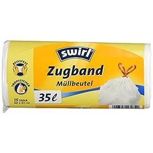 Swirl 35 l Zugband Müllbeutel, 15 Stück