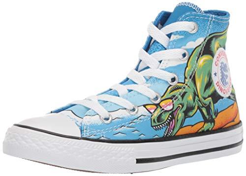 Converse CTAS HI Kinder Sneaker Chuck Unisex Kids Junior Canvas Dino´s Beach Party 664246C, Schuhgröße:36 EU (Jungen-canvas-schuhe)