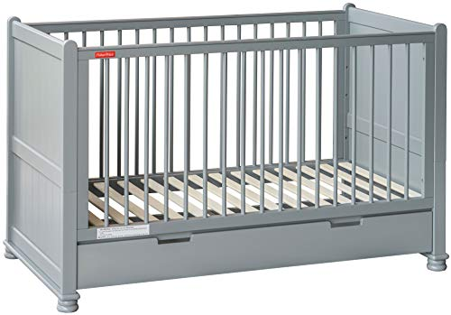 Alex Daisy Fisher Price Georgia Baby Crib Cum Toddler Bed (Grey)