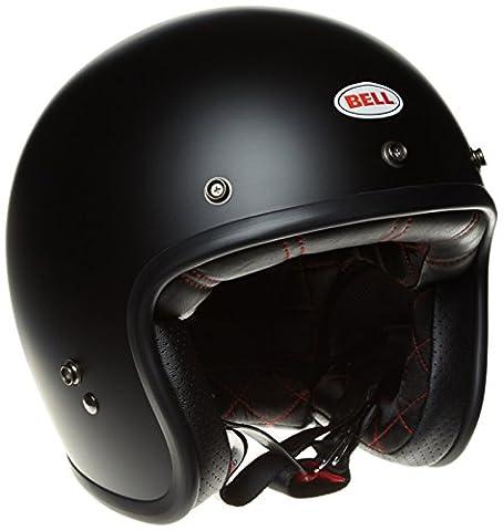 Bell Powersports Custom 500 Motorradhelm, Schwarz (Matte Schwarz Solid), M