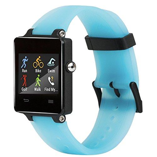 Honecumi - Correa de repuesto de silicona para reloj de pulsera inteligente Garmin Vivoactive, talla única, azul
