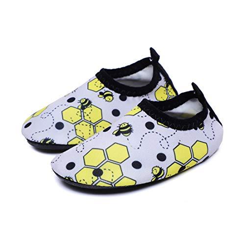 Athyior Wasserschuhe Baby Kleinkind Jungen Mädchen Niedliche Wassersportschuhe Aqua Socken Quick Dry für Strand Schwimmbecken Schuhe Leicht