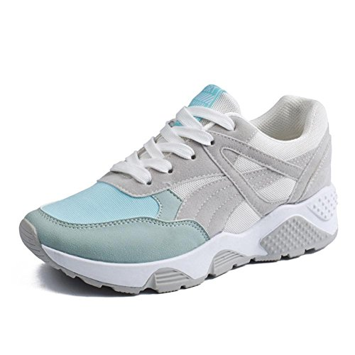 Chaussures de sport pour dames / femmes printemps et été baskets légers et respirants blue gray cloth cover
