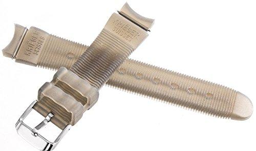 Krieger Suisses Uhrenarmband Gummi grau transparent 19mm