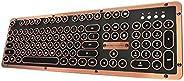 Azio Retro Classic Bluetooth Keyboard multi-colored MK-RETRO-L-BT-03-US