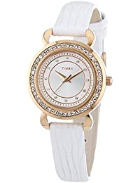 Timex Damen-Armbanduhr XS Starlight Collection Analog Quarz Leder T2P479