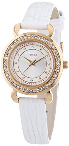 Timex Damen-Armbanduhr XS Starlight Collection Analog Quarz Leder T2P479 (Leder Damen Collection)