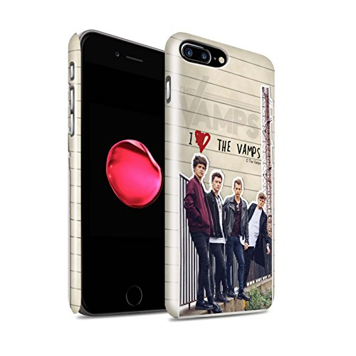 Offiziell The Vamps Hülle / Glanz Snap-On Case für Apple iPhone 7 Plus / Tristan Muster / The Vamps Geheimes Tagebuch Kollektion Band