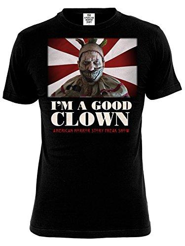 T-shirt American Horror Story Freak Show Twisty Clown coton noir - M